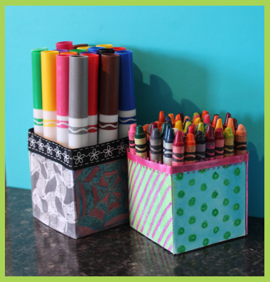 quilt cube pencil holder craft