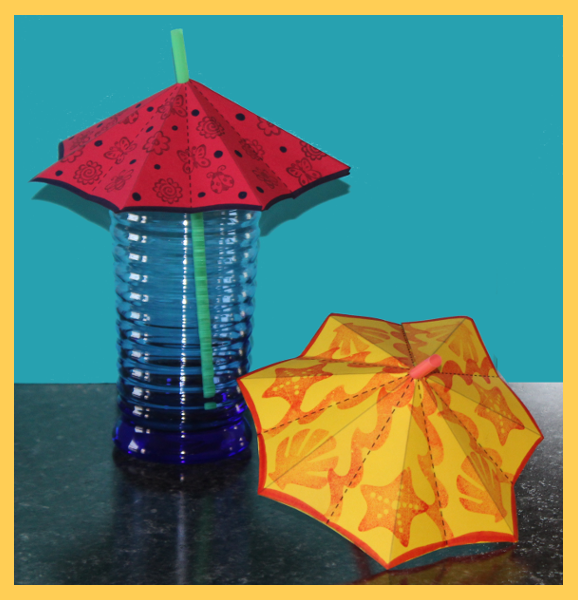 Click the photo for umbrella straw template and instructions.