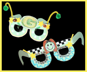 Paper goggles craft