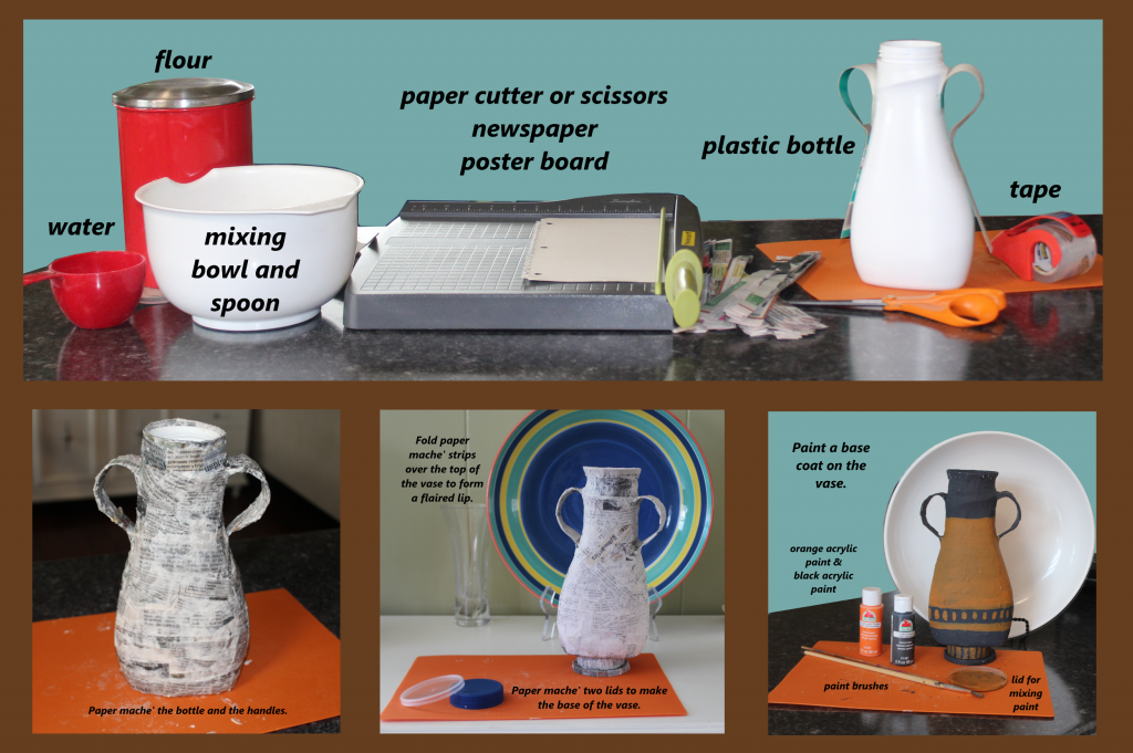 Instruction for Paper Mache' Greek Vase Craft