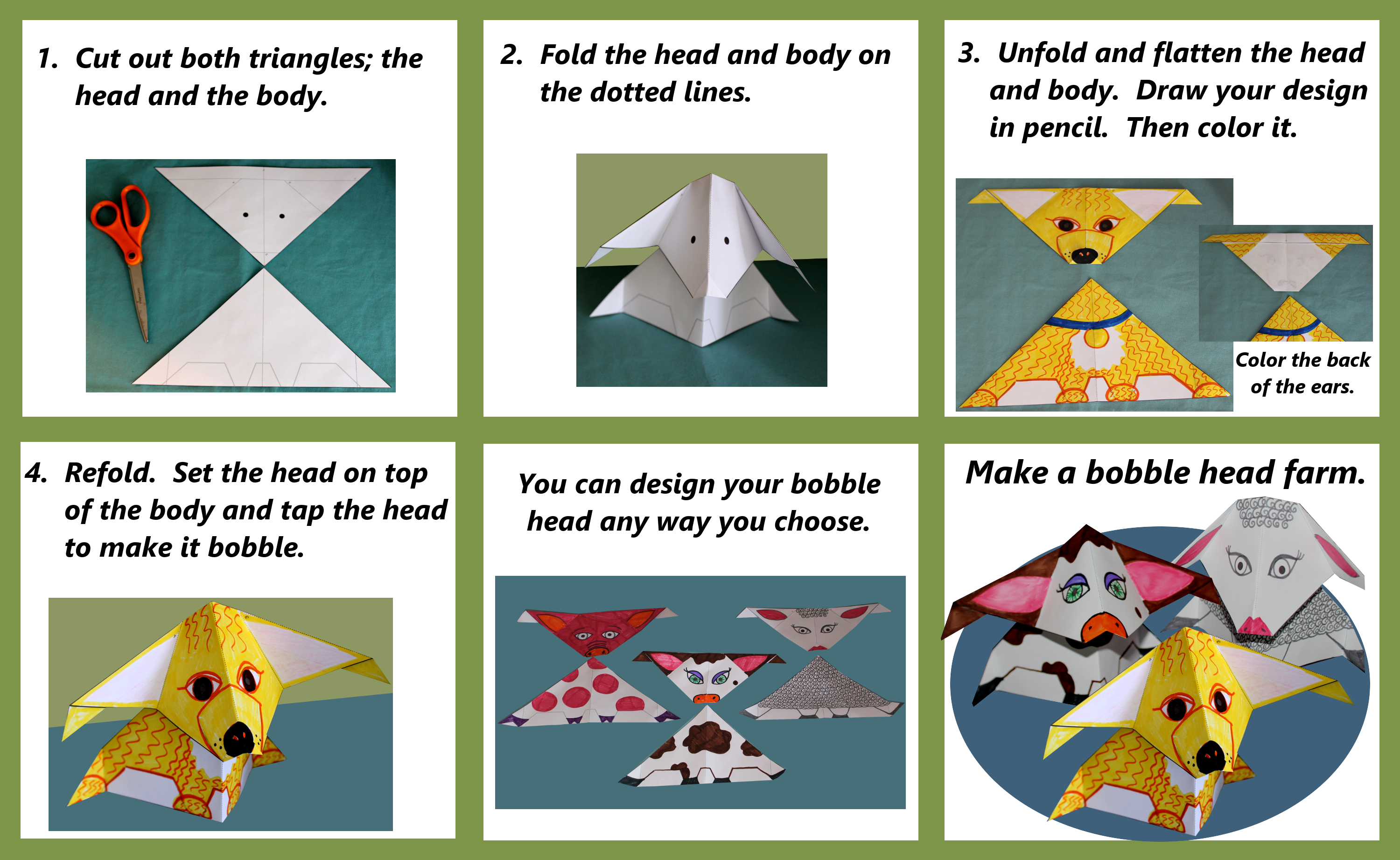 Bobble Head Craft Instructions