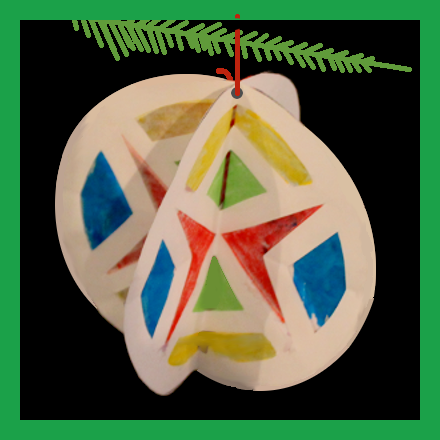 """Stained """"Glass"""" Ornament"""