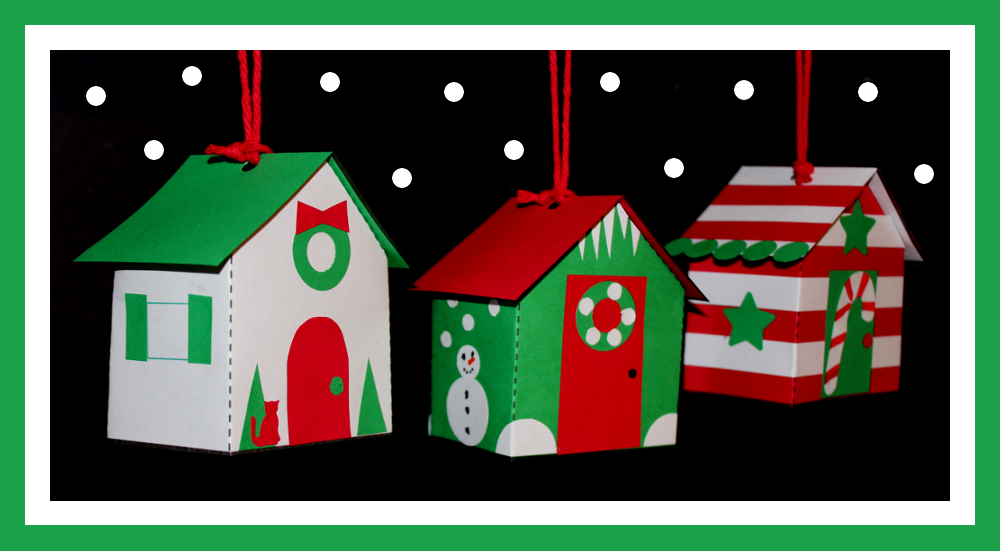 Paper house ornaments