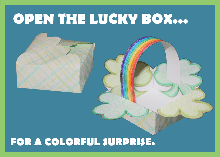 Make a lucky box for St. Patrick's Day.