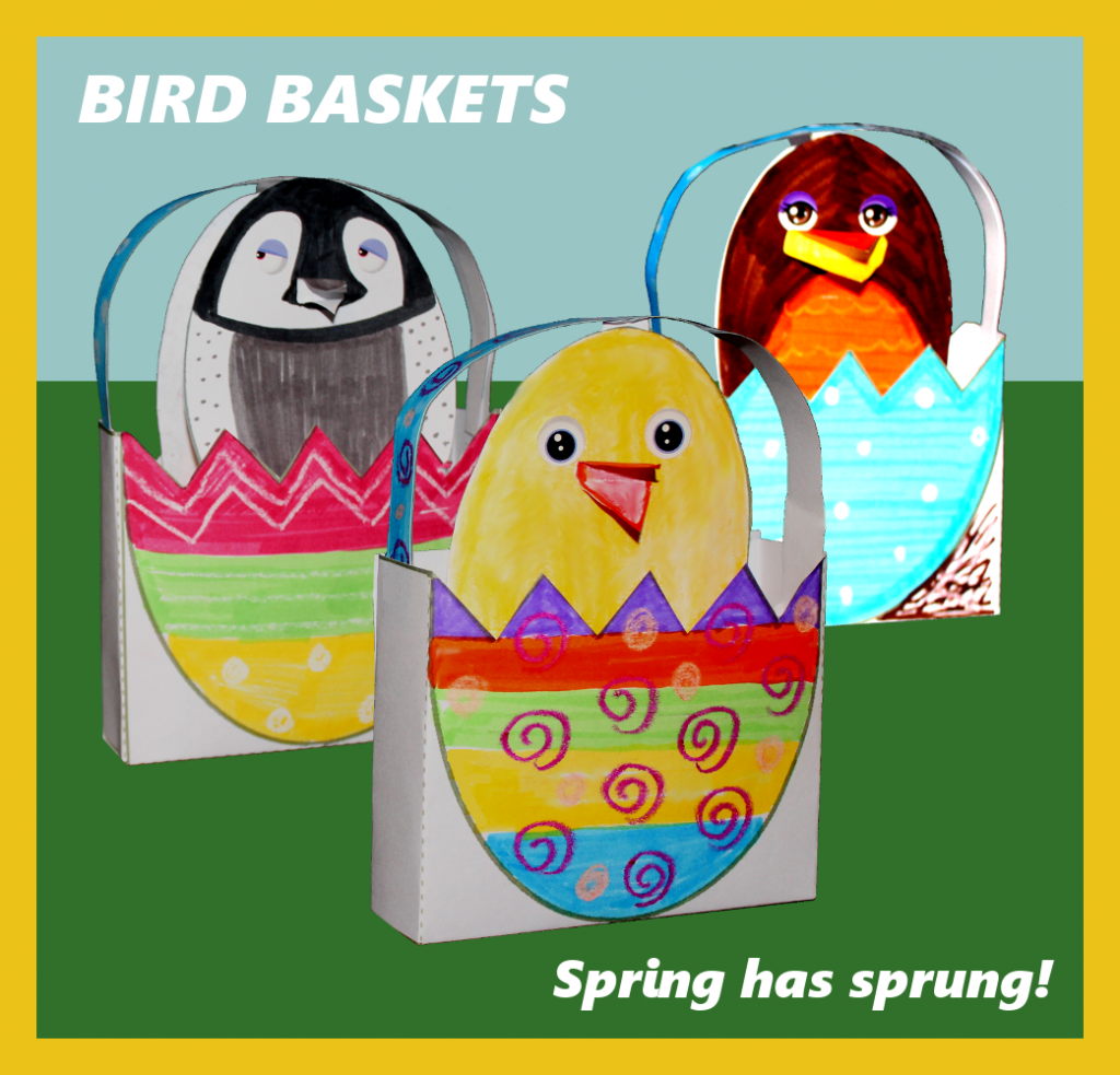Spring Bird Basket Craft