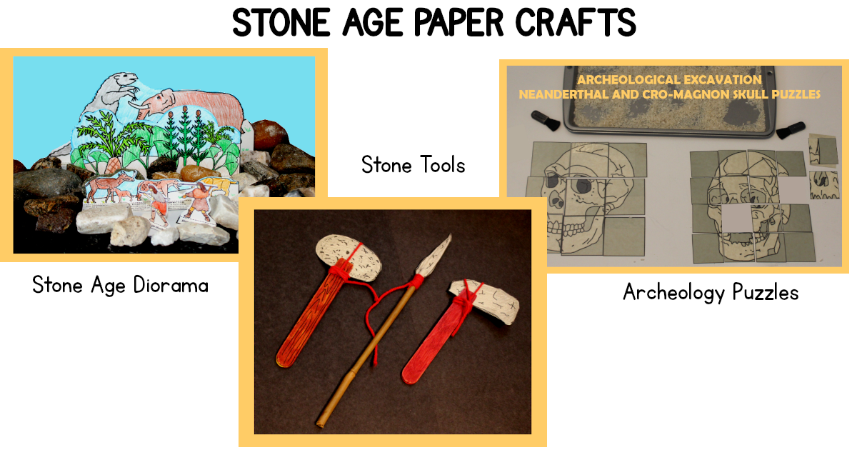 Stone Age Paper Crafts